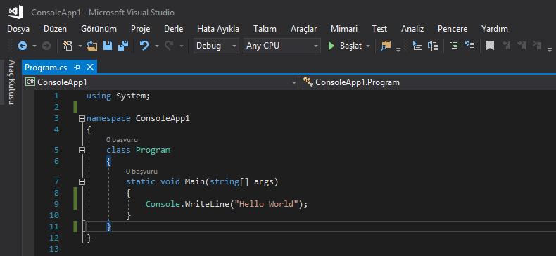 C# Programlama Dilinde Hello World Nasıl Yazılır?