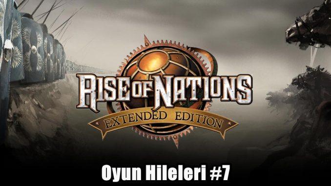 Rise of Nations Hileleri Nelerdir?